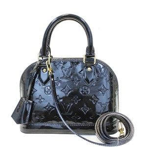 LOUIS VUITTON Alma BB Monogram Vernis Satchel Bag